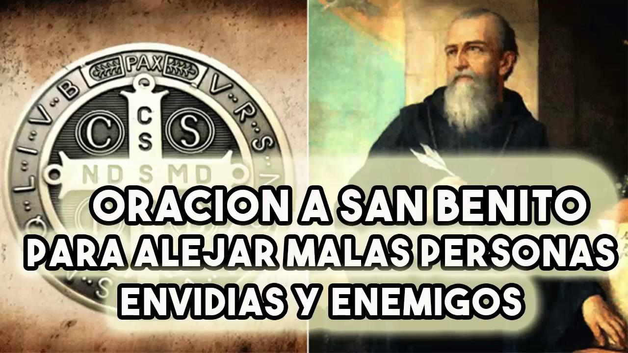 oraciones a San Benito para alejar malas personas
