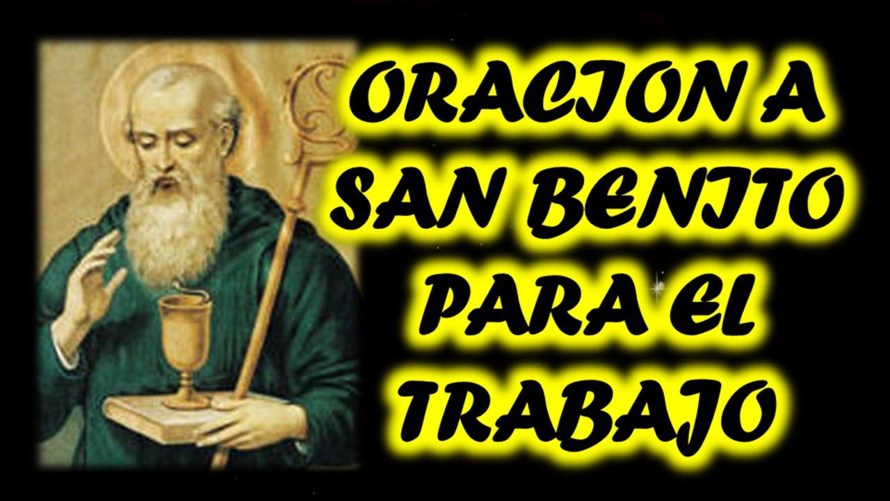 oraciones a San Benito para el empleo y/o trabajo